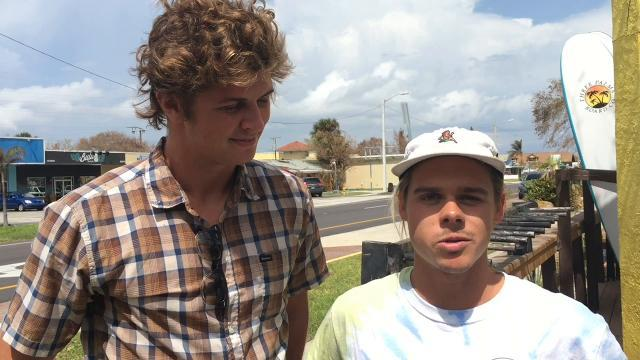Local surfers talks about waves expected from Maria