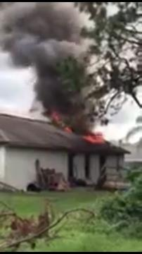 Palm Bay firefighters were at a scene of a fire on Hegira Street. Video courtesy of Palm Bay Fire Department.