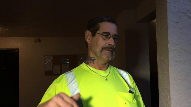 Robert Shepard talks about his rescue after being caught in rip current. Video by Craig Bailey. Posted Oct. 17, 2017.