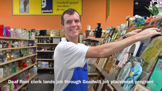 Deaf Man Finds Joy In His Work At Goodwill