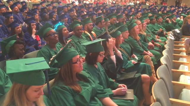Eastern Florida State College held two graduation ceremonies Thursday at the King Center on the Melbourne campus. Video by Malcolm Denemark