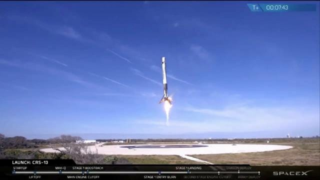 SpaceX successfully launched from Cape Canaveral Air Force Station on a mission to the International Space Station on Friday, Dec. 15, 2017. The first stage landed at Landing Zone 1 shortly after.