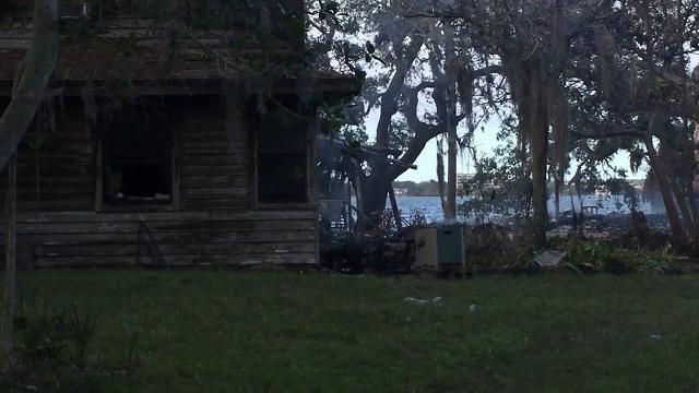 Fire destroys home on Tropical Trail on Merritt Island