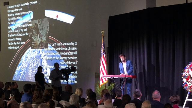 The sacrifices of 24 astronauts were remembered Thursday during the Day of Remembrance at Kennedy Space Center. Among the family and friends present today: Tal Ramon, son of Columbia astronaut Ilan Ramon. Video by Craig Bailey. Posted Jan. 25, 2018.