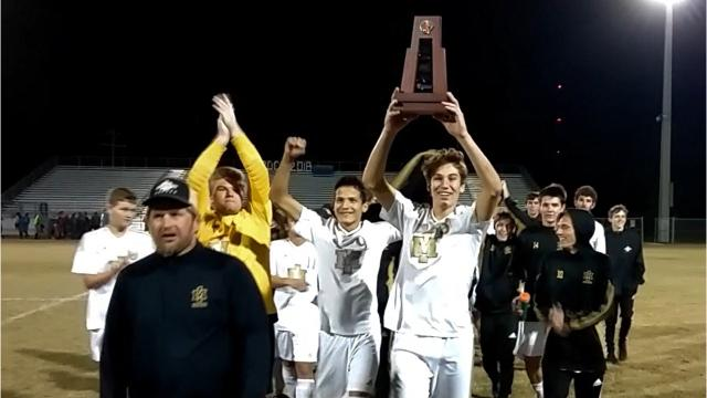The Merritt Island Mustangs beat Ft. Pierce Westwood, 3-0, in a down-and-dirty street fight on Friday to win the District 12-3A boys soccer finals. Video by Eric Rogers. Posted Feb. 3, 2018.