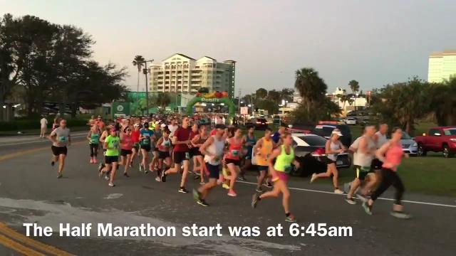 The Publix Florida Marathon and Half Marathon  held in Melbourne. Video by Tim Shortt. Posted 2/11/18.