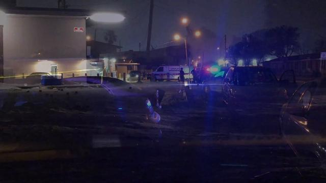 Police search for clues after shots were fired Tuesday evening at 1301 University Blvd. in Melbourne. No one was hit by flying bullets, however one person was transported to the hospital. Video by Craig Bailey. Posted Feb 13, 2018