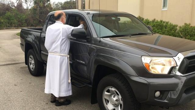 Advent Lutheran Church offered drive through Ash Wednesday service for the third year in a row for people with busy schedules. Video by Malcolm Denemark