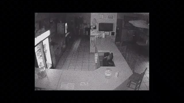 A burglar entered a restaurant in Palm Bay Sunday.