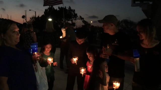 Brevard County Sheriff's Office FTO Kevin Stanton was killed in a traffic accident, and hundreds gathered Sunday to pay tribute. Video by Tim Shortt. Posted 2/18/18.