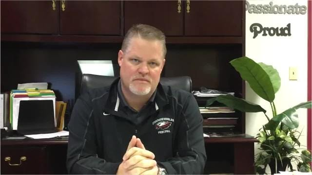 Principal Ty Thompson at Marjory Stoneman Douglas High School has a message about the Feb. 14 shooting in which 17 people died after a former student opened fire there. Video posted Feb. 19, 2018