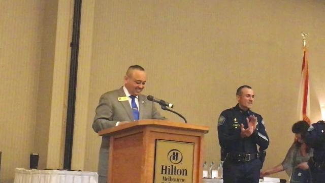Palm Bay Police Officer Kyle Schuck was named Officer of the Year