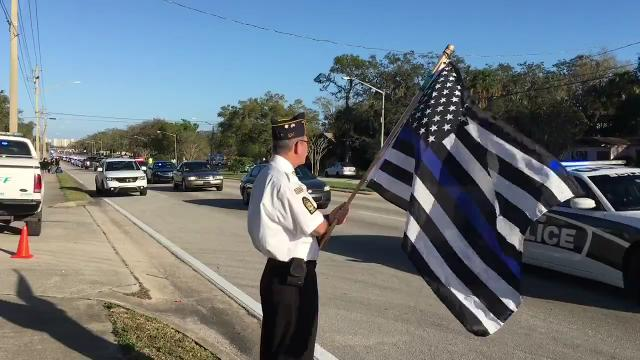 Funeral procession for Deputy Kevin Stanton