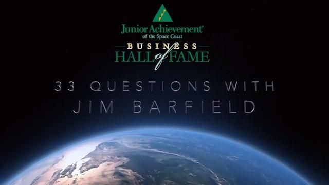 Junior Achievement of the Space Coast honored Jim Barfield on Saturday night as one of two 2018 inductees into the Business Hall of Fame. Here's the video presentation from the ceremony. Video by Rob Landers. Posted March 4, 2018