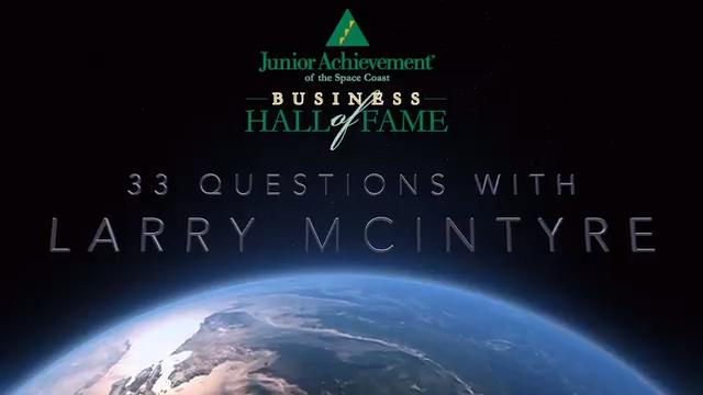 Junior Achievement of the Space Coast honored Larry McIntyre on Saturday night as one of two 2018 inductees into the Business Hall of Fame. Here's the video presentation from the ceremony. Video by Rob Landers. Posted March 4, 2018