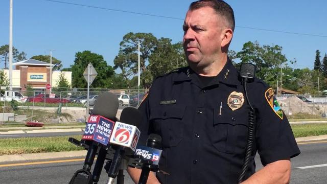 Video: Titusville police discuss hoax explosive threat