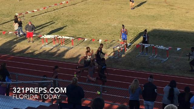 Caziah Holmes won the Cape Coast Conference 100 meters in 10.91 seconds Wednesday at Satellite HS, three-hundredths ahead of Corbin. Video by Brian McCallum. Posted March 29, 2018.
