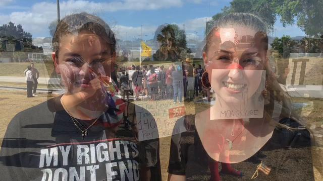 Florida high school students walk out in support of second amendment, right to own guns