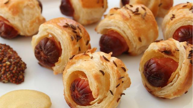 Going to a dinner party? Make some pigs-in-a-blanket.