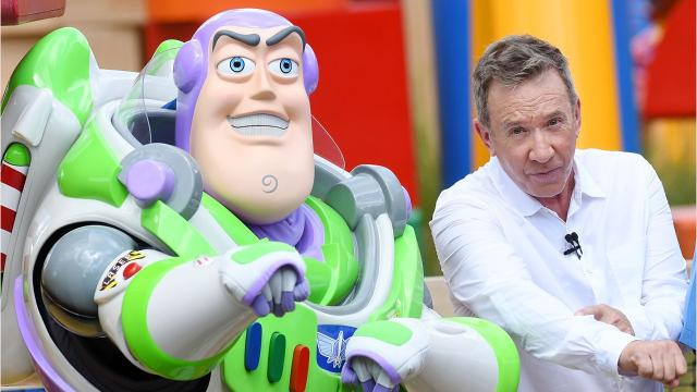 """""""To infinity and beyond!"""" """"Toy Story"""" star Tim Allen appeared at the grand opening of Toy Story Land at Disney's Hollywood Studios in Orlando on June 29, 2018. Video by Jennifer Sangalang and Tim Shortt, FLORIDA TODAY."""