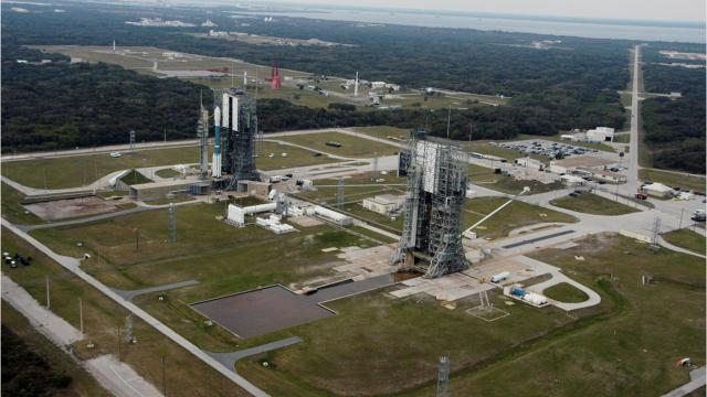 Twin towers at Cape Canaveral Air Force Station's Launch Complex 17 are set to be razed with controlled explosions around 7 a.m. Thursday, July 12, 2018. Dating to 1957, the former Delta II pads last hosted a launch in 2011.