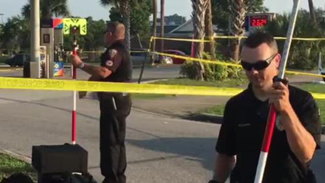 Scenes from shooting at Sunoco gas station across from Palm Bay High