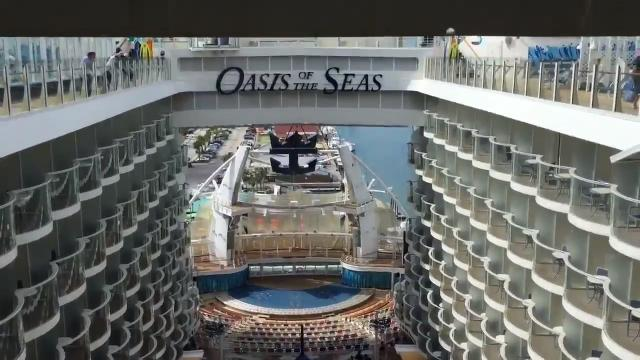 Royal Caribbean's massive cruise ship is now going to use Port Canaveral, Fl. Video by Tim Shortt. Posted 11/13/16.