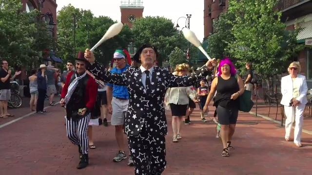 The Queen City transforms into a city of fools in early August for the annual Festival of Fools.