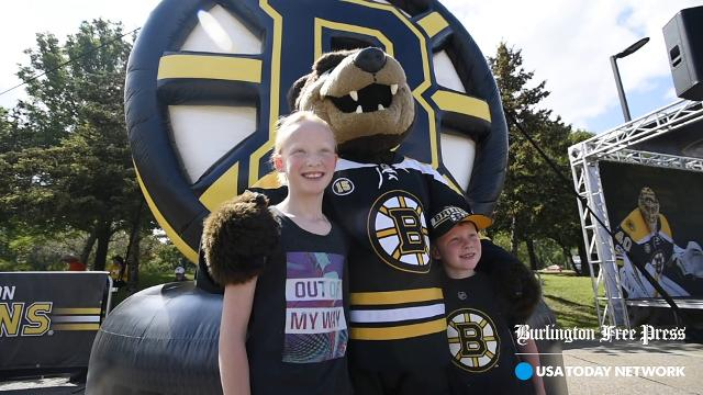 The Boston Bruins Fan Fest Tour stopped in South Burlington on Monday, August 28, 2017, as part of a six-state New England tour.