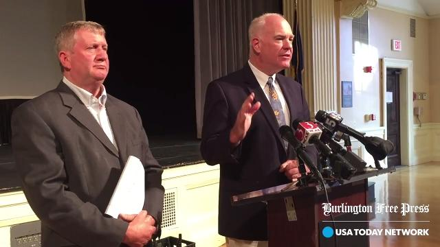 Two Vermont Republican lawmakers announce plans on Monday, Sept. 18, 2017, for two bills that would eliminate teacher strikes and imposed working conditions by school boards. Vermont is the only New England state that allows teacher strikes.