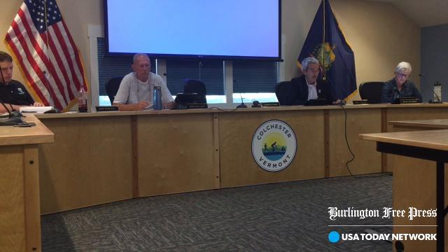 Four members of Colchester's Selectboard present for a meeting on Sept. 18, 2017, said they would not support a resolution right now to pursue regionalized governance of the Burlington International Airport.