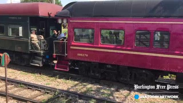 Private railroad car convention in Burlington