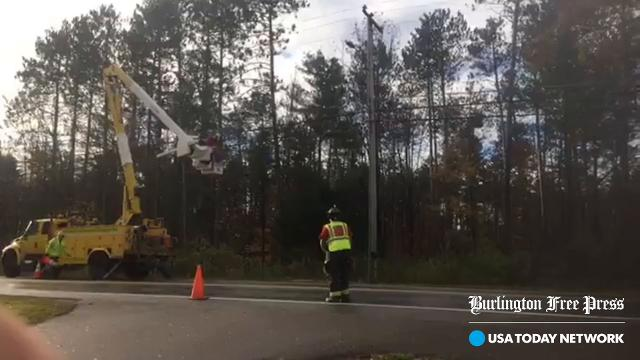 Crews work in Essex to restore power taken down by wind storm