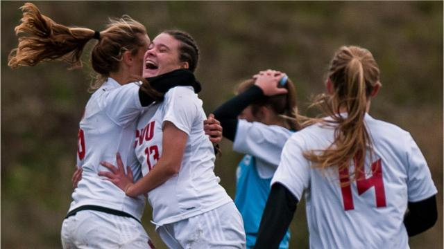 After South Burlington's defense forced OT, CVU's Charlotte Hill found the net, winning the girl's soccer semifinal in sudden death, 1-0.