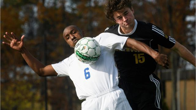 The Lake Region boys soccer team, tied up 2-2 in regulation, found the net in overtime, winning the Vermont state championship over Harwood on Saturday, Nov. 4, 2017.