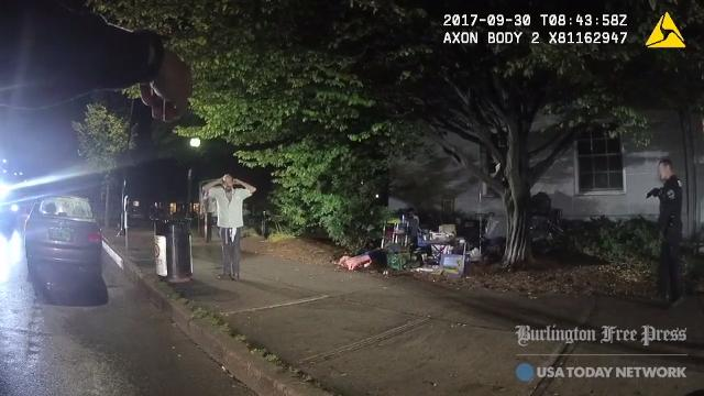Body camera footage acquired by the Burlington Free Press shows the Sept. 30 arrest of Jason Breault fails to corroborate the Burlington police department's statement that Breault pulled a knife and injured an officer's hand while being arrested.