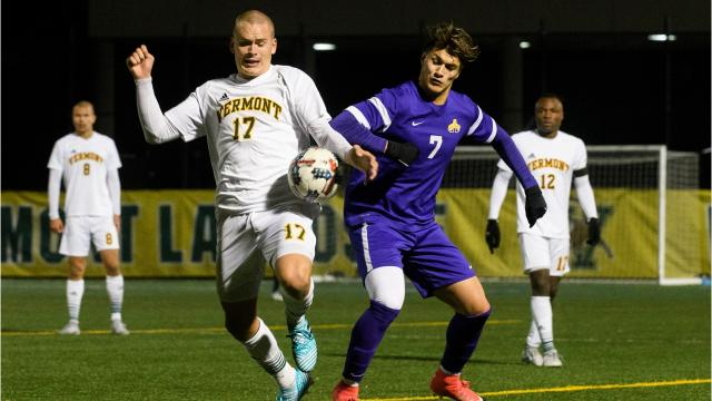 The University of Vermont men's soccer team fell 1-0 to Albany at home in their America East semi final contest Wednesday night, Nov. 8, 2017.