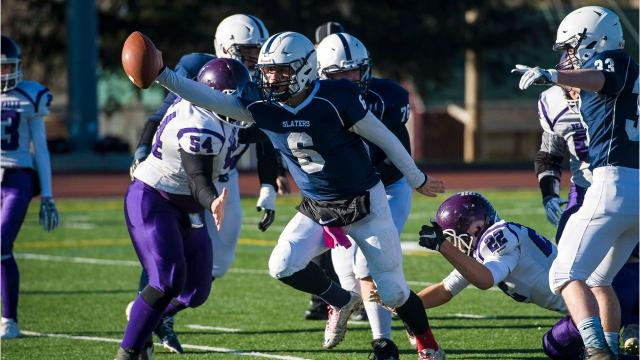 Fair Haven defeated Bellows Falls to win the D2 high school football state championship in Rutland on Saturday, November 11, 2017.