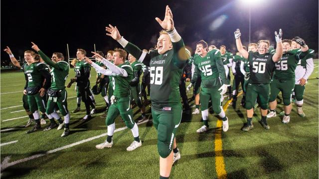 St. Johnsbury defeated Hartford in the D1 high school football state championships in Rutland on Saturday, November 11, 2017.