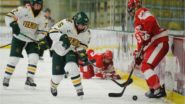 The University of Vermont women's hockey hosted Boston University at Gutterson Fieldhouse on Friday night.