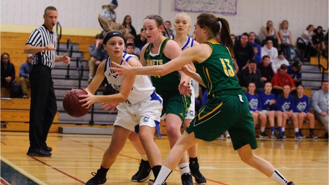 Images from BFA-St. Albans' 46-26 win over Colchester in high school girls basketball on Friday night in Colchester. (Photos by Brian Jenkins/For the Free Press)