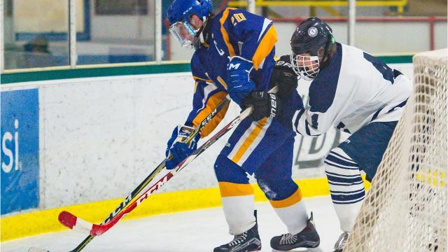 The Burlington High School boys hockey team played Milton High School in Burlington on Wednesday, January 17, 2018