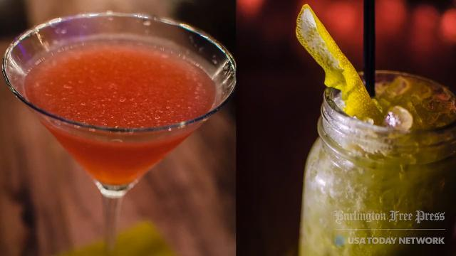 Check out two of the hottest cocktails at Bangkok Bistro in the Alley in downtown Burlington. The Bruce Lee, made with a green tea home brew, and the lychee cosmo.