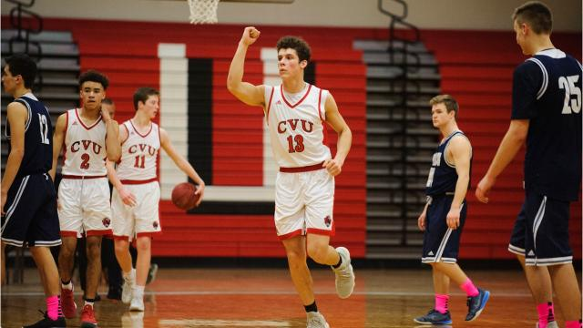 CVU boys basketball uses big third quarter to upend Burlington on Tuesday night. Photos by Brian Jenkins.