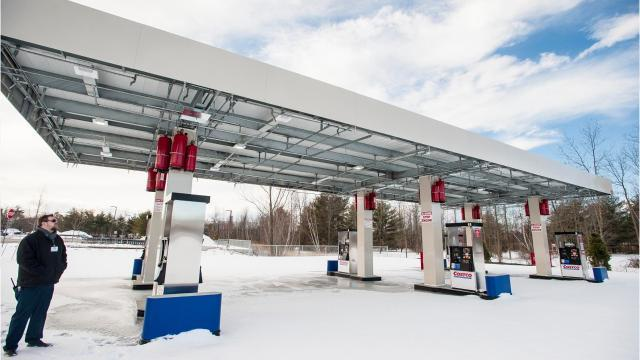Costco started planning for gas pumps at its Colchester warehouse ten years ago.  After going through lawsuits and the permitting process, 12 pumps were installed last year.  But drivers are still not able to gas up.