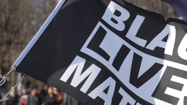 Burlington High School senior Eli Pine said at a ceremony on Monday, Feb. 19, 2018, that he and the students he worked with to get the Black Lives Matter flag raised hope to spur a national movement at high schools.