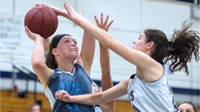 The Burlington High School girls basketball team hosted South Burlington on Tuesday, February 20, 2018.