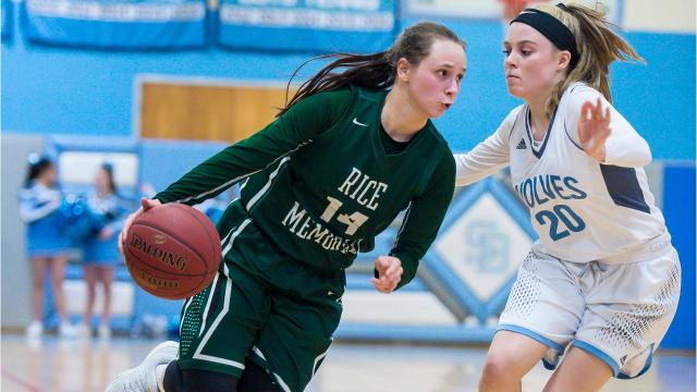 Rice Memorial defeated South Burlington in a high school girls playoff basketball contest on Friday, March 2, 2018.