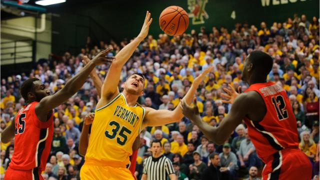 The University of Vermont men's basketball team handily defeated Stony Brook, 70-51, and will face UMBC at the America East Championship at home on Saturday, March 10, 2018.