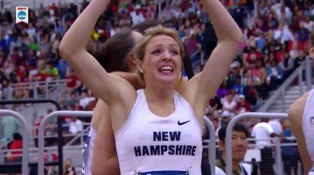 Vermont native and University of New Hampshire senior Elinor Purrier holds off a late charge from Colorado's Dani Jones to win her first NCAA championship.